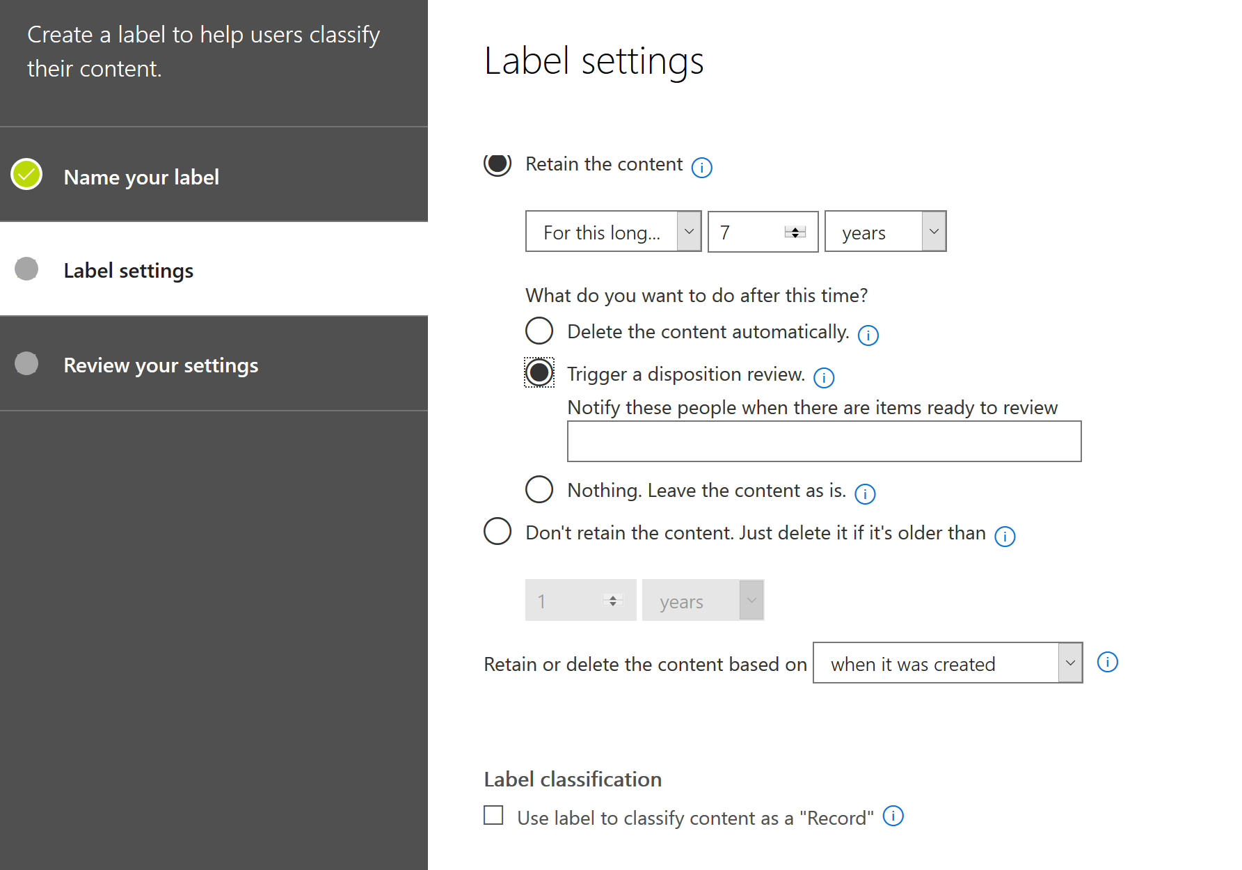 microsoft-information-protection-retention-labels
